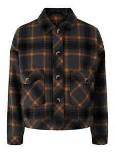 Checked Boxy Jacket
