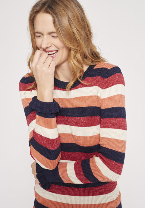 Lurex Striped Sweater
