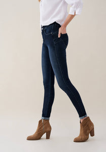Glamour Washed Indigo Push In Jeans