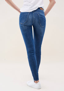 Glamour Mid Blue Push In Jeans