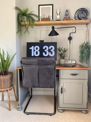 country style home office desk space