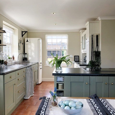 Light and airy country cottage kitchen