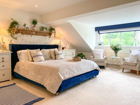 lovely bedroom with super king bed from Loaf