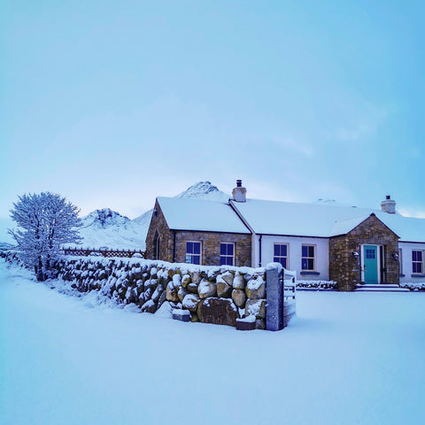 image of Crosswater Cottage in the Snow