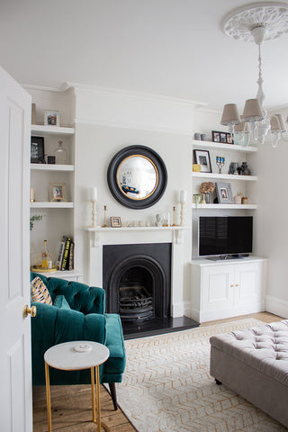 beautiful living room mixing old with modern