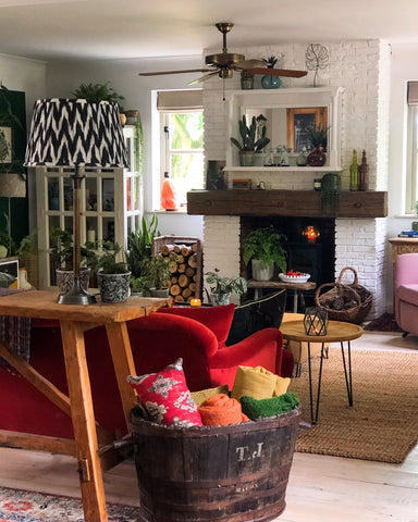 wooden floorboards in living room country living home decor ideas