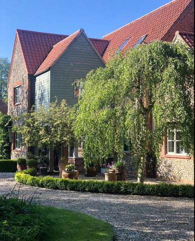 traditional Norfolk brick and flint built home