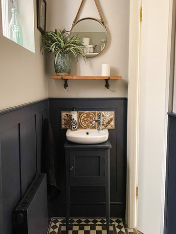 wall panels in toilet