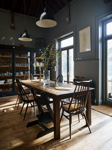 Blue Country Farmhouse Kitchen
