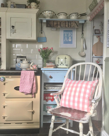 country cottage kitchen with mini Aga