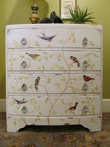 decoupage vintage chest of drawers
