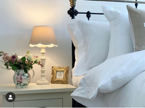 country bedroom bedside table style