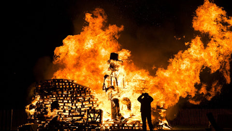 Guy Fawkes Burning Effigy