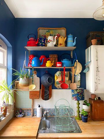 eclectic vintage home interior