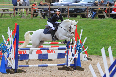Milly showjumping