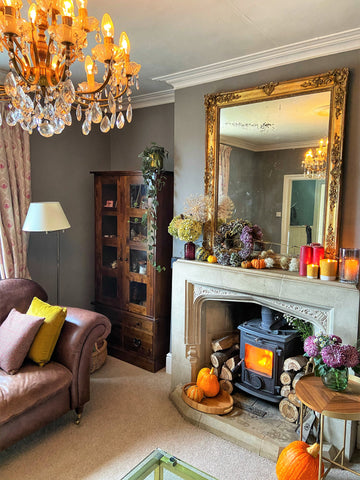 autumn theme living room