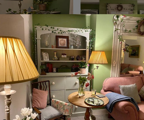 comfortable eclectic traditional room