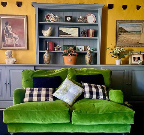 bold colours in country home