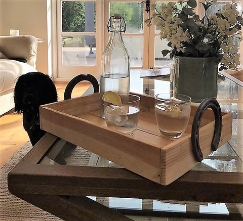 horseshoe serving tray