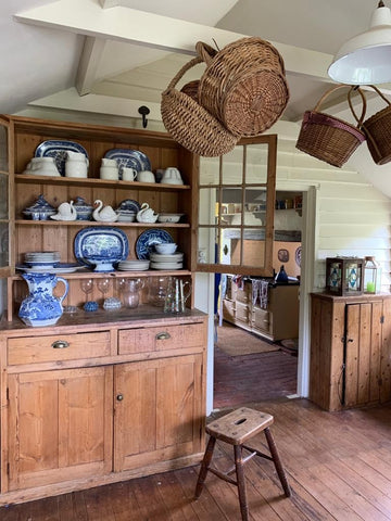 country kitchen dresser with china collection