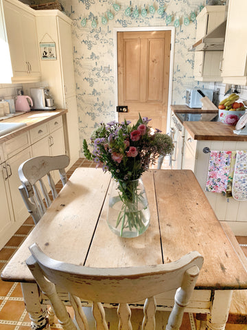 reclaimed vintage pine kitchen table