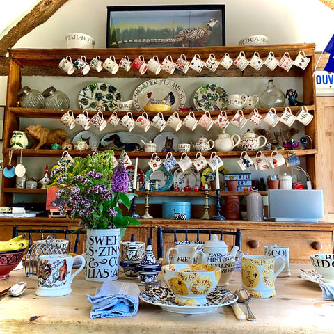 country kitchen with Emma Bridgewater collection decor