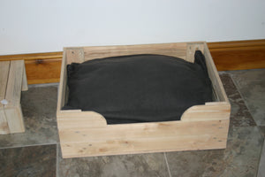 Big Wooden Dog Crate Bed