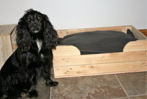 Medium Large Wooden Dog Basket With Gundog