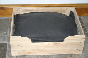Medium Large Dog Bed Basket Wood Crate
