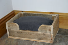 Load image into Gallery viewer, Dog Bed handmade natural wood country style