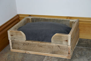 Dog Bed handmade natural wood country style