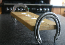 Load image into Gallery viewer, Image of Cheltenham Horseshoe Tealight Candle Rack Holder