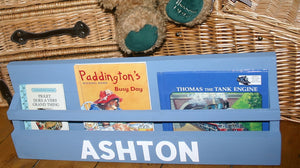 Picture showing personalised book display rack