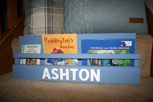 Image of traditional style child's book display holder shelf