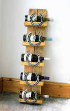 Load image into Gallery viewer, Image of Cheltenham Horseshoe Wine Bottle Display Stand With Bottles of Wine
