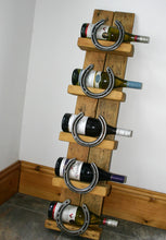 Load image into Gallery viewer, The Burghley Horseshoe Wooden Wine Bottle Display Holder Stand
