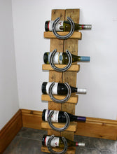 Load image into Gallery viewer, Image showing equestrian theme wine bottle display rack stand. Horse themed