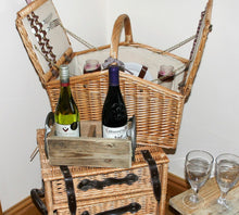 Load image into Gallery viewer, Image showing picnic display including wooden wine bottle display holder