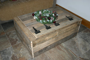 Extra Large Handmade Rustic Wood Coffee Table Trunk Chest Storage