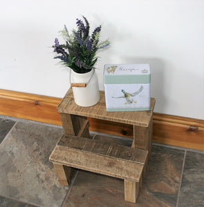 Rustic step stool for home decor