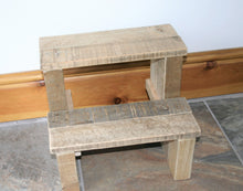 Load image into Gallery viewer, Solid Step-Stool Natural Reclaimed Wood