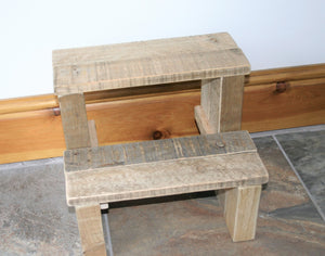 Solid Step-Stool Natural Reclaimed Wood