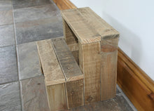 Load image into Gallery viewer, Image of traditional wooden step stool