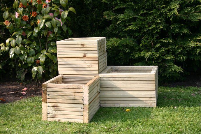 three tier trough corner planter for garden or patio