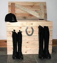 Load image into Gallery viewer, Horseshoe Storage Chest Wooden