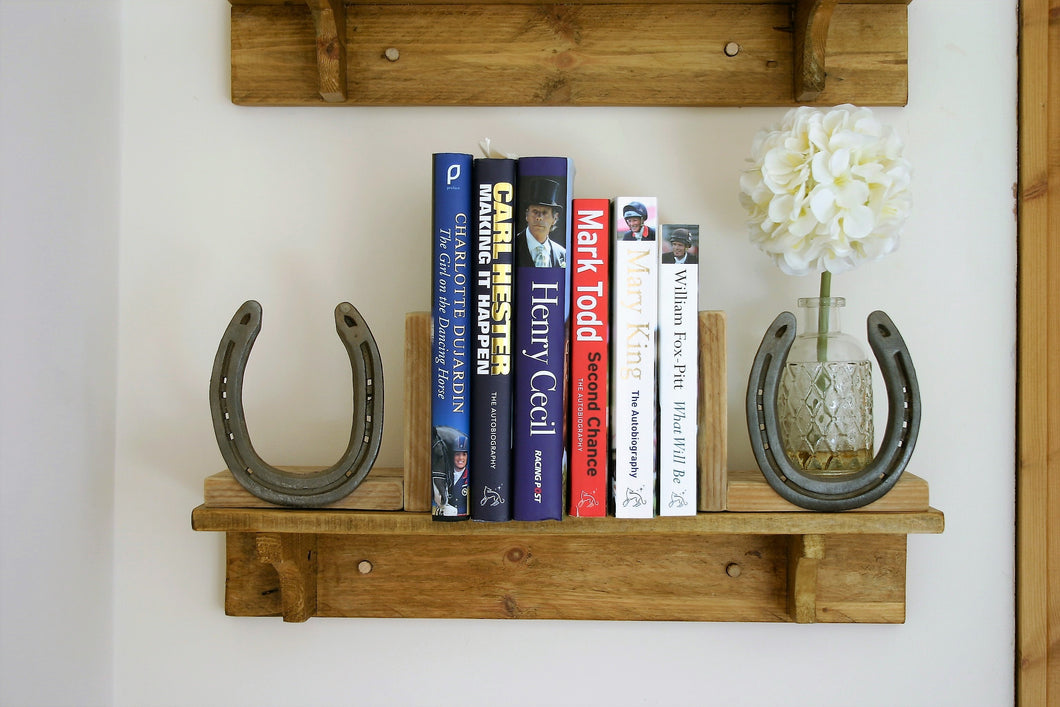 rustic wooden shelf with corbels
