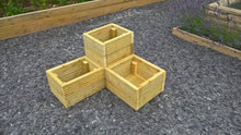 Load image into Gallery viewer, Wooden Corner Planter for Garden with 3 sections