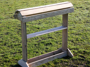 Wooden saddle display stand for two saddles