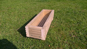Wooden Trough Garden Planter or Window Box for Vegetables, Herbs and Flowers