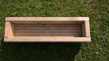 Load image into Gallery viewer, Wooden Trough Garden Planter or Window Box for Vegetables, Herbs and Flowers